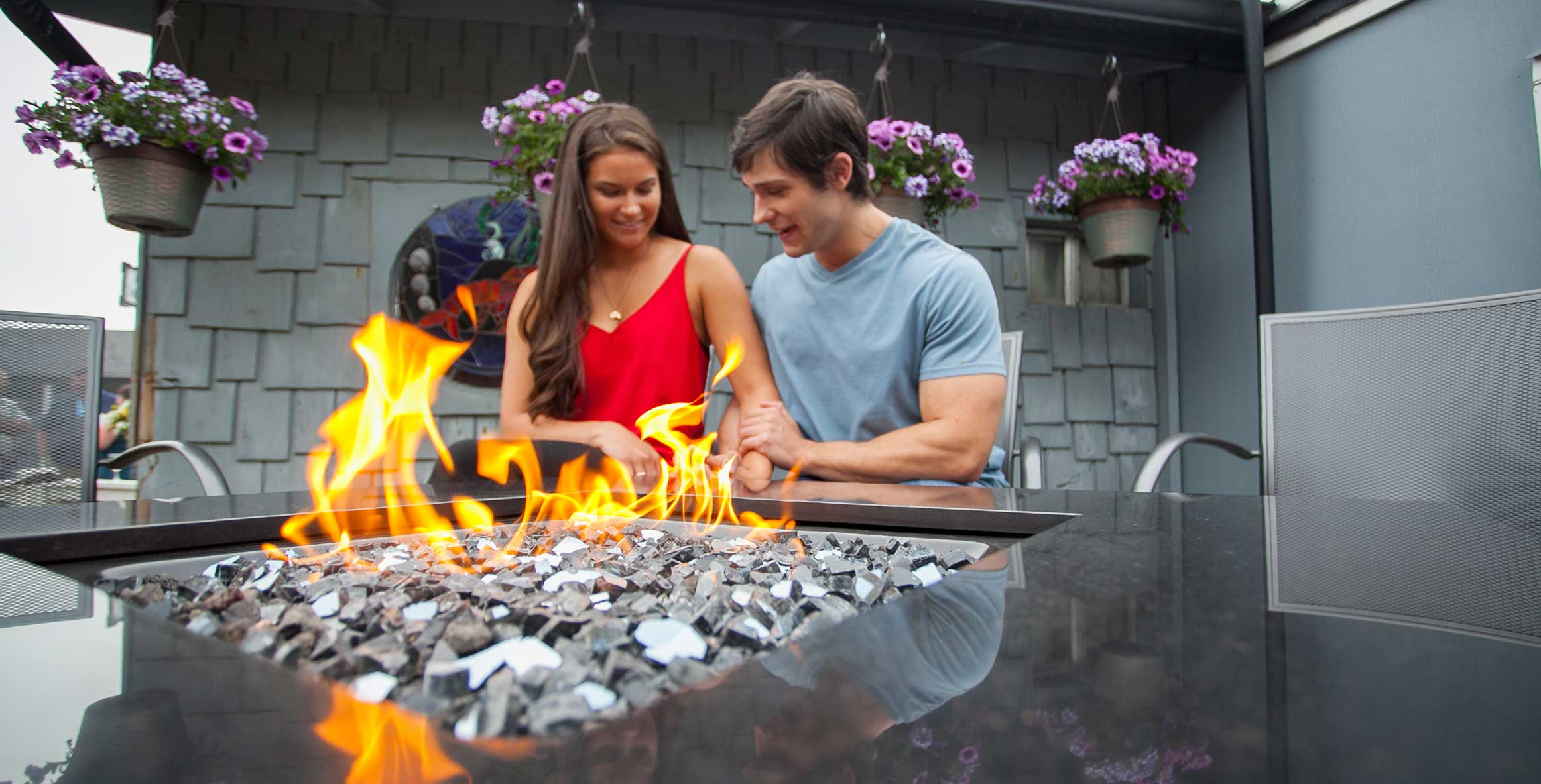 RELAX BY OUR OUTDOOR FIREPIT